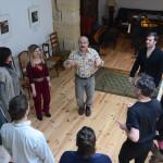 Michel Jonasz teaching a master class - Atelier de la Main D'Or, Paris
